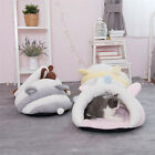 US Lovely Pet Cat House Kennel Cave Sleeping Bed Super Soft Mat Pad Warm Nest B7
