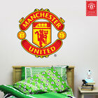 Manchester United Fc Crest Wall Sticker Mural + Man Utd Logo Vinyl Art Decal Set