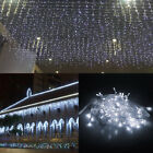 Купить 10-100FT Christmas LED Fairy Icicle Curtain Lights Party Indoor Outdoor Decor US