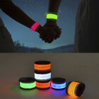 Внешний вид - LED Slap Band Glowing Wristband Light Up Reflective Gear Bracelet For Women Men