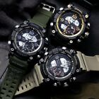 SMAEL Mens Waterproof Sports Military Analog Quartz Digital Alarm Wrist Watch US image