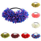 Women Elastic Big Flower Wedding Beach Tiara Crown Hair Wreath Headband Garland
