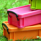 6 Color Mini Plastic with Lid Collection Files Container Case Storage Box