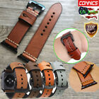 Mens Genuine Leather Wrist iWatch Band Strap For Apple Watch Series 5 4 44/40MM image
