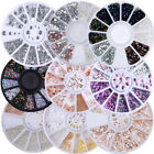 Nail Art Strass per Unghie Borchie Decorazione 3D Luccichio UV Gel Tips Decor
