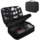 MoKo 2 Layer Travel Electronics Accessories Cable Organizer Bag Management Case