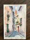 Vintage Watercolor Painting Of Barrio De San Bernardo Potugal Signed Paredes