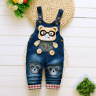 Toddler Baby Boys Overalls Clothes Infant Boy Denim Animal Print Long Overalls