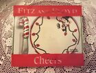 FITZ & FLOYD, *Cheers*, Chip & Dip/ Snack Plate with Spreader- NEW