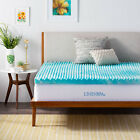 LINENSPA 2 and 3 Inch Gel Convolution Memory Foam Mattress Topper - Twin Queen image