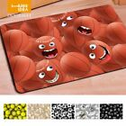 HUGSIDEA Funny 3D Emoji Smilely Face Carpet Basketball Baseball Print Non-slip