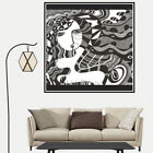 Art Female Hand Drawing Canvas Poster Art Print Children Home Living Room Decor