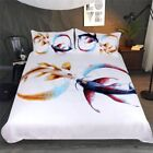 Bedding Set Cryprinus Carp Duvet Cover Golden and Blue Eternal Bond by JoJoesArt
