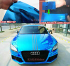 Stretchable Diy Blue Car Part Glossy Mirror Chrome Vinyl Wrap Sticker Sheet - Ab