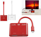 1080P HDMI AV Adapter video Cable for iPhone x 5S 6 6S 7 8 Plus to TV Projector