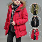 2019 Winter Kids Faux Fur Outerwear Boys Warm Jacket Overcoat Hooded Puffer Coat