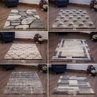 SMALL - EXTRA LARGE HEATSET SILVER GREY MODERN RUGS CLEARANCE -  5 OF EACH ONLY