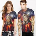 New T-shirt The Flame  Cat Printed Short Sleeve O-neck t-shirt S-2XL T-shirt