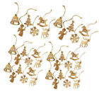 36x Christmas Decoratins Ornaments Wooden Hanging Pendents Party Home Decor