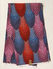 African Fabric/Ankara - Pink, Red, Gray 'Sauti Waves' Design, YARD or WHOLESALE