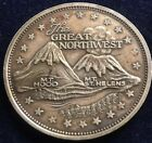 The Great Northwest Mt. Hood Mt. St. Helens 1 oz .999 Silver Round