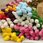 1/10pcs Bouquet Latex Tulip Flowers Bridal Floral Home Wedding Party Decor Gifts