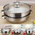 Multi-purpose Stainless Steel Pot Soup Steamer Single Double Layer With Ears