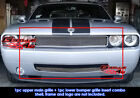 Customized For 09-10 Dodge Challenger Billet Premium Grille Combo Insert