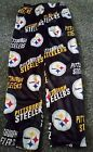NWT Pittsburgh Steelers Mens PJ Lounge Pants Drawstring Soft Velour Casual Small
