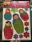 Add-Heres Glitterpuff Russian Dolls Matryoshka New In Package NIP - $5.00 FUN