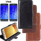 For Samsung Galaxy J7 2018/J7 Refine Case Leather Wallet Cover+Screen Protectors