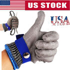 Stainless Steel Safety Cut Proof Stab Resistant Metal Mesh Butcher Glove XS-3XL
