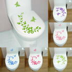 Lovely Flower Butterfly Bathroom Toilet Seat/Fridge Wall Decals Sticker
