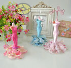 """7"""" tall Mannequin Dress Gown Earring Necklace Ring Jewelry Holder Stand Display"""