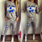 Women Tracksuit Hoodies Sweatshirt Pants Set Jogger Sport Wear Casual Sweat Suit