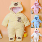 Newborn Baby Rompers Cartoon Hooded Winter Baby Clothing Thick Cotton Baby
