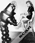 ANNE FRANCIS & ROBBY THE ROBOT putting on shoe 8X10 PHOTO #709 FORBIDDEN PLANET