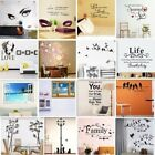 3d Vinyl Home Room Office Decor Art Quote Word Wall Decal Stickers Removable Diy
