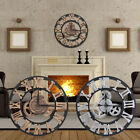 30/58/80cm Large Outdoor Garden Wall Clock Big Roman Numerals Giant Open Face