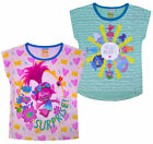 Girls Trolls T-shirt 2 PACK Top 100% Cotton Set Kids New Age 2 3 4 5 6 7 Years