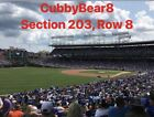 (4) Chicago Cubs Tickets vs Marlins 5/6/19  Sec 203 Lowers NO POLES on Ebay