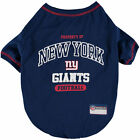 Pets First NFL New York Giants Property NYG T shirt Dog clothing all Sizes USA
