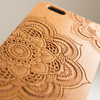 Natural Cherry Wood Bamboo Case Back Cover PC Bumper For i Phone XS/8 Plus/7/6s