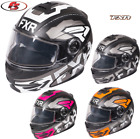 New 2019 FXR Fuel Modular Evo Helmet Electric Shield Black Ops/White LG XL 2X