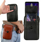 Men's Faux Leather Cell Phone Card Pouch Case Cover Hand Bag Purse Fanny Pack Pu