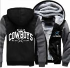 NEW Men's Dallas Cowboys Hoodie Zip up Jacket Coat Winter Warm Black and Gray on eBay