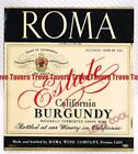 Unused 1940s CALIFORNIA Fresno ROMA ESTATE BURGUNDY 116mm Wine Label
