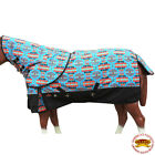 M167- 66- 84 HILASON 1200D POLY TURNOUT HORSE SHEET NECK COVER TURQUOISE AZTEC U