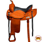 HILASON WESTERN DRAFT HORSE SADDLE WIDE GULLET TRAIL PLEASURE ENDURANCE OILED U-