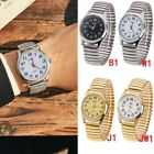 Retro Men's Women's Couple Elastic Band Stainless Steel Quartz Watch Wristwatch image